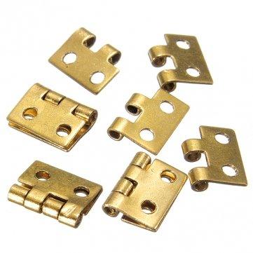 Man Friday 5pcs Mini Metal Hinges For 1/12 Dollhouse Miniature Furniture MF SKUOSDN6125322