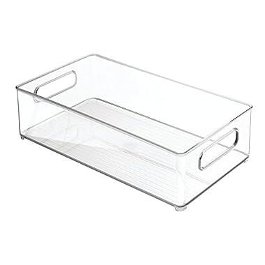 InterDesign Refrigerator and Freezer Storage Organizer Bins for Kitchen, 8  x 4  x 14.5 , Clear