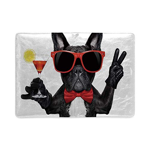 Funny Utility Notebooks,French Bulldog Holding Martini Cocktail Ready for the Party Nightlife Joy Print for Work,5.82