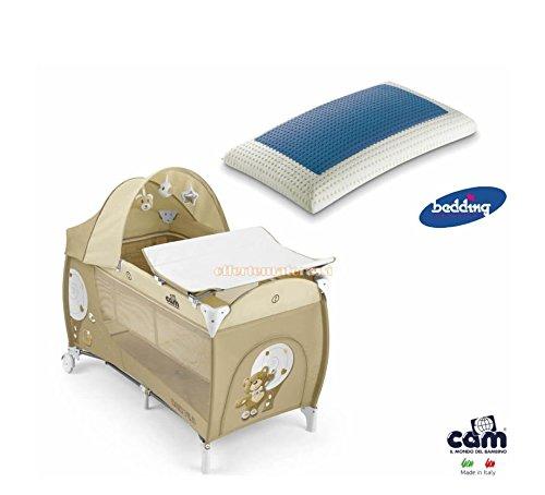 Kinderbett Cam Daily Plus Bär beige Kinder Baby + Bedding Blue Classic