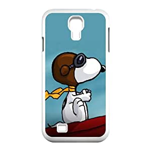 Samsung Galaxy S4 9500 Cell Phone Case White Charlie Brown and Snoopy W2276912