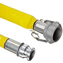 Goodyear EP Spiraflex Yellow PVC Suction/Discharge Hose Assembly, 2-Inch Aluminum Cam and Groove Connection, 200 PSI Maximum Pressure, 50-Feet Length, 2-Inch ID