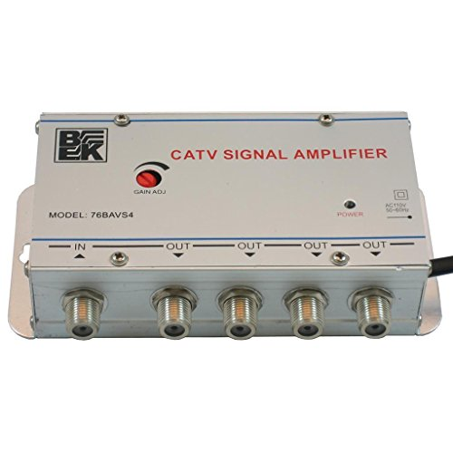 BK 76BAVS4 CATV 4-Way Cable TV Signal Booster Amplifier (Isolation Cable Splitter)