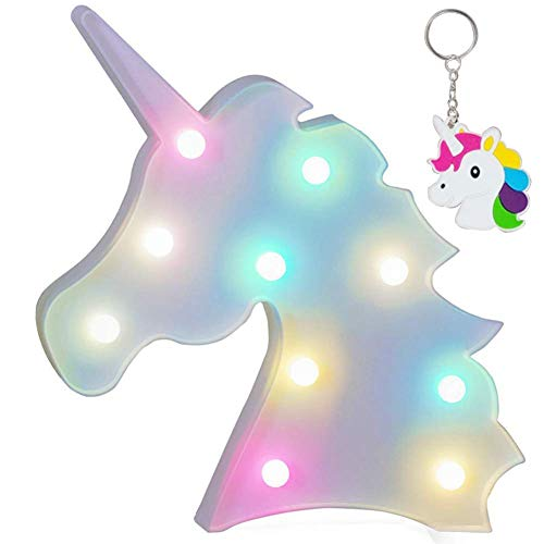AIZESI Rainbow Colorful Unicorn Light,Unicorn Marquee Signs Unicorn Party Supplies,Unicorn LED Night Light Wall Decoration Room Decor,Desk Table Lamp,Kids Gift for Birthday Xmas(Rainbow Unicorn)