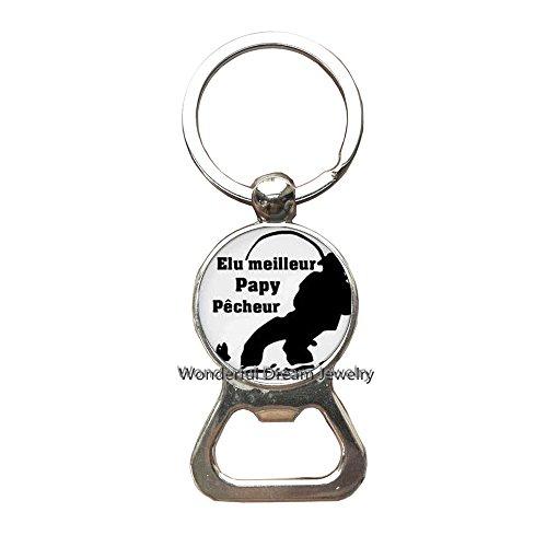 (Elu PAPY de l'annee Bottle openers Keychain Key Ring Women Charms Tues une Mamie qui dechire Jewelry Super papa Mamie Bottle openers Keychain)
