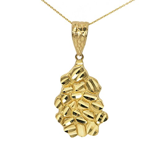 14k Yellow Gold Nugget Pendant ()