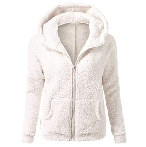 Sottile Bianco Finto Montaggio Autunno Della Inverno Hoode Cappotto Chiusura Pelliccia Rivestimento Lampo Mogogo Del Womens Il 4FZqIxv