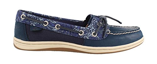 Sperry Tie Top Sider Leather (Sperry Top-Sider Barrelfish Animal Print Boat Shoe)