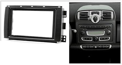 Kit de montaje de radio de coche 2 DIN con soporte para Smart 451 Car ForTwo 2007-2010
