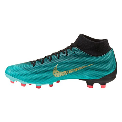 NIKE Jr. Superfly 6 Academy GS CR7 MG Clear Jade/Metallic Gold SZ 5Y - Image 1