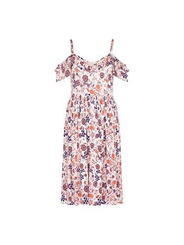 Yumi Damen Dekolletiertes Kleid Elfenbein elfenbeinfarben 2PZqi3