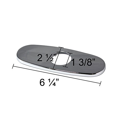 """Decor Star PLATE-7C Bathroom Vessel Vanity Sink Faucet 4"""" Hole Cover Deck Plate Escutcheon Chrome well-wreapped"""