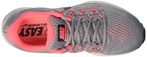 Nike Damen Wmns Air Zoom Vomero 12 W Laufschuhe Grau (Wolf Grey/black/pure Platinum/hot Punch/lava Glow)