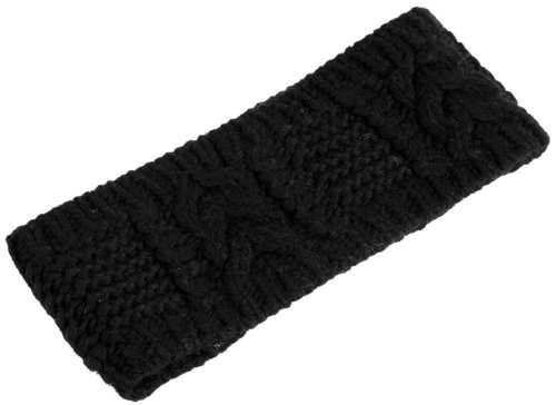 Nirvanna Designs HB09 Merino Cable Headband, Black