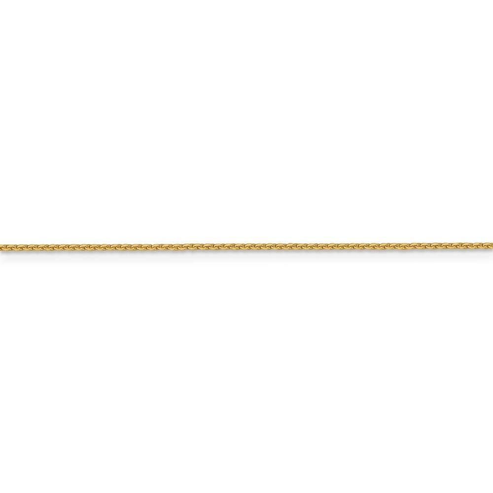 16 18 20 Length Options Leslie 14k 1 mm Sparkle-Cut Cable Chain Necklace
