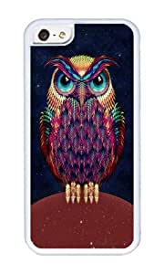 Apple Iphone 5C Case,WENJORS Unique OWL 2 Soft Case Protective Shell Cell Phone Cover For Apple Iphone 5C - TPU White