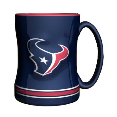 NFL Houston Texans Sculpted Relief Mug, 14-ounce, Deep Steel Blue ()