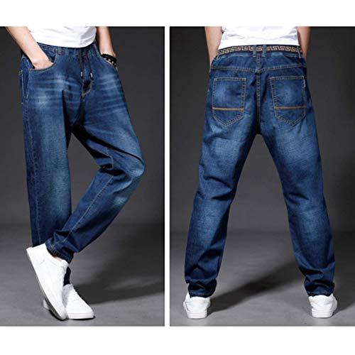 Fit Slim Classiche Da In Stretch Skinny Di Uomo Dritti Denim Jeans Pantaloni Base Dunkelblau Ragazzi Casual YwXqd