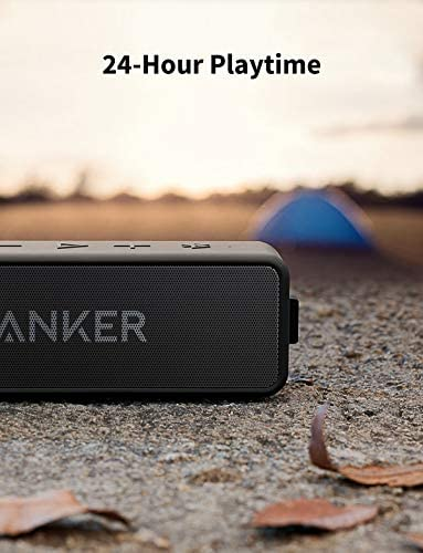Anker Soundcore 2 Portable Bluetooth Speaker with 12W Stereo Sound, Bluetooth 5, Bassup, IPX7 Waterproof, 24-Hour Playtime, Wireless Stereo Pairing, Speaker for Home, Outdoors, Travel 41ITNPjsOdL