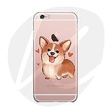 (T Cat)iPhone 6/6S Case Cover,Cute Pet Animal Cartoon Dog(Smile Corgi) Case,Slim,Shock-Absorption Bumper,Anti-Scratch TPU Soft Case,with Lanyard--Welsh Corgi Pembroke-03