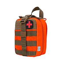 LefRight Tactical MOLLE Rip-Away 1000D EMT Utility Medical Blowout Pouch with Buckle Strap Velcro Attachment First Aid Patch …