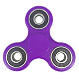 COPRO Anti-Anxiety Fidget Spinner Toy Helps Focusings EDC Focus Toy for Kids & Adults - Best Stress Reducer Relieves ADHD Anxiety and Boredom Purple