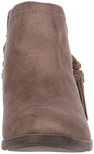 Tassle Fabric Rampage Cut Side Tiaan with Taupe Ankle Womens Bootie Out Decorative Boot w6BnqA4wx