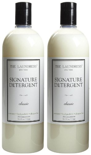- The Laundress Signature Detergent - 33.3 oz, Classic Scent, 2 Pack - All Natural, Plant Based, Eco-Friendly, Biodegradable & Hypoallergenic - Amazing Scent with Jasmine & Citrus Overtones - 128 loads
