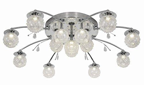 Plafonnier Led Lustre Lampe Avec Telecommande Amazon Fr