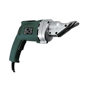 metal shear. heavy-duty electric metal shear - swivel head cuts 14 ga steel ul-listed i