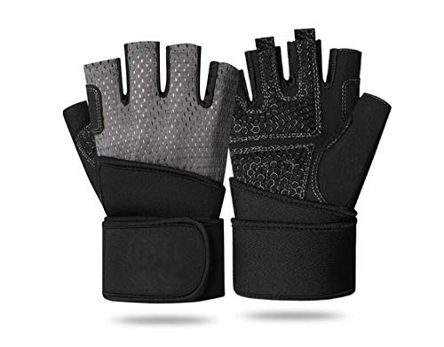 0d8ee0983bd0d Disveo Weight Lifting Gloves, Breathable Workout Gloves Exercise Gloves  Padded Gym Gloves for Climbing,
