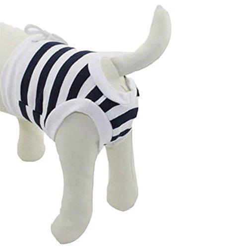 PANPET Dog Diaper Pant,Pet Dog Cotton Tighten Strap Sanitary Physiological Pants, Pet Underwear Diapers Black Stripe (Menstrual Pad Costume)