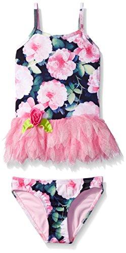 Kate Mack Little Girls' Toddler Seaside Bliss Floral Tankini Swimsuit, Multi, 3T