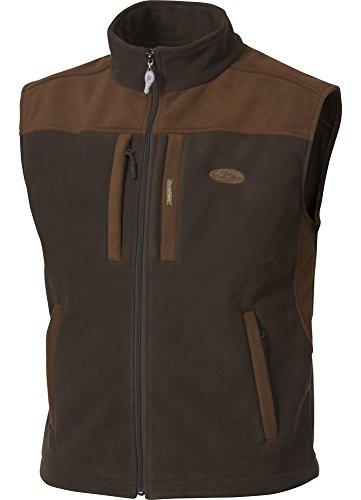 Drake Fleece Vest - Drake MST Windproof Layering Vest (Olive Brown) (Men's XL)