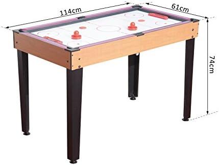 HOMCOM 3 en 1 Multi Juegos Hockey Mesa de Tenis de Mesa de Billar ...