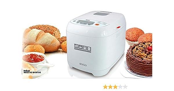 Sogo SS-10720 - Máquina para hacer pan: Amazon.es: Hogar