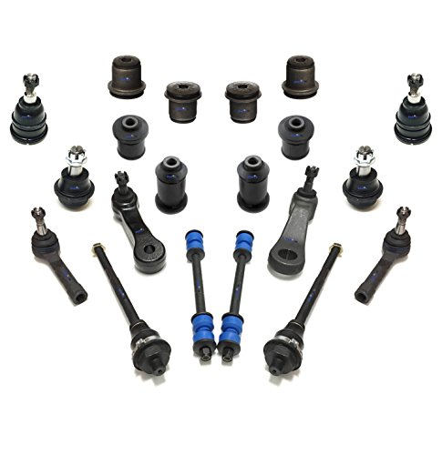 PartsW 20 Pc Front Steering & Suspension Kit for Escalade/Avalanche Silverado Suburban Tahoe/Sierra Yukon/Tie Rod Linkages, Idler & Pitman Arms, Upper & Lower Control Arms Bushings, Sway Bars