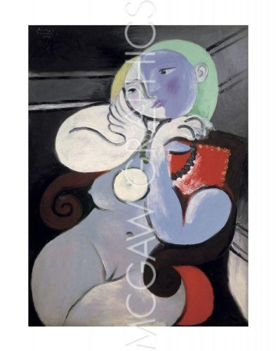 """Nude Woman in a Red Armchair, 1932 By Pablo Picasso Art Print Poster 14"""" X 11"""""""