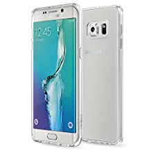 Galaxy S6 Edge+ Plus Case - MoKo [Anti Drop] Halo Series Back Cover with TPU Anti drop + Clear PC Back Panel Bumper Case for Samsung Galaxy S6 Edge + Smartphone 2015 Release, Crystal Clear