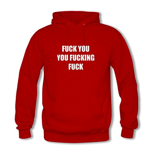 Fuck Women's Red 2 Fucking Hoodie Printed You Custom Hkdiy dxnPpd
