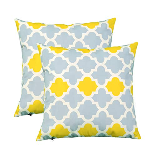 Bufffun Decorative Square Throw Pillow Covers Super Soft Pillowcase for Couch Sofa Home Decor Floral Both Sides 18 X 18 Inch, 2 Pieces