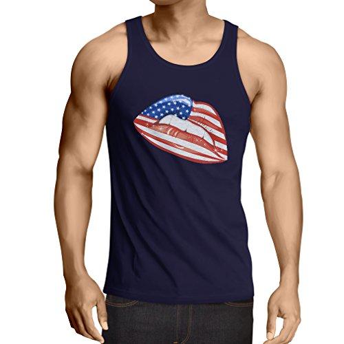 N4334V Vest USA Lips (Large Blue - Outlet In Tanger Shops