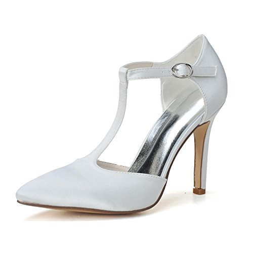 Sandals F0608 Night White YC Party Satin L 09 Women's amp; Platform High Open Wedding Toe Heels T1wwHAnqv