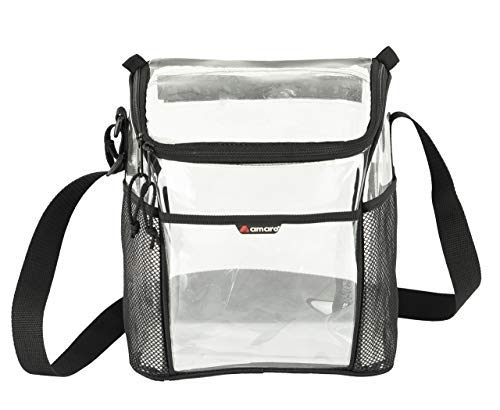 (Clear Lunch Bag by Amaro, Clear Designer Lunch Bag, 6 Pack Lunch Bag, Lunch Bag For Work)