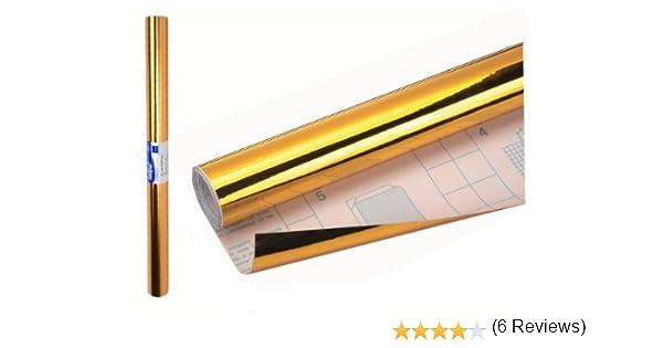 Sadipal 12239 - Rollo plástico adhesivo 0.50 x 3 m, color oro: Amazon.es: Oficina y papelería