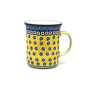 Polish Pottery Mug – Big Straight Sided – Sunburst