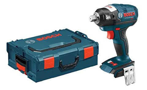 Bosch IWBH182BL Bare-Tool 18-volt Brushless 1/2-Inch Pin Detent Impact Wrench with L-Boxx-2 and Exact-Fit Tool Insert (Impact Wrench Attachment)
