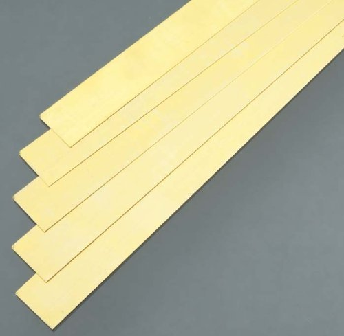 K&S Precision Metals 9715 Brass Strip, 0.016'' Thickness x 1'' Width x 36'' Length, 5 pc, Made in USA by K & S