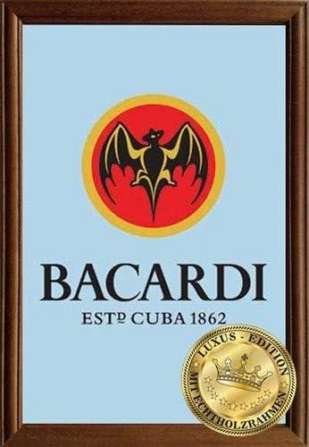 Empire Merchandising 610928 bacardí Ron, Espejo con Marco de ...