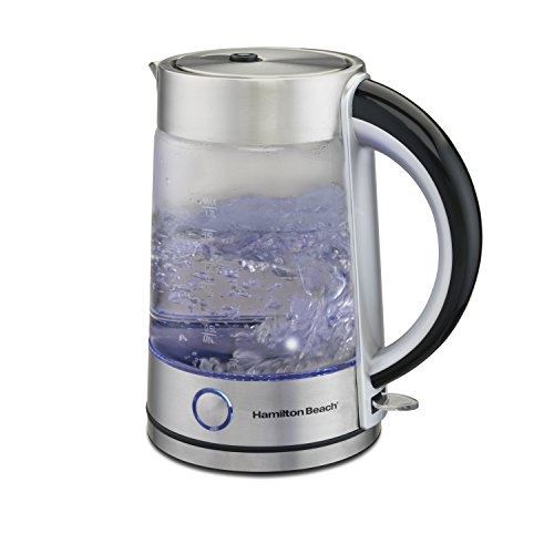 Hamilton Beach Modern Glass Kettle, 1.7 Litter - Beach Hamilton Glass